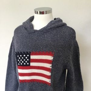 American Flag Hooded Sweater by Liz Claiborne